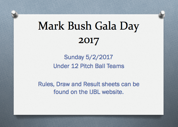 Mark Bush Gala Day Draw/Result