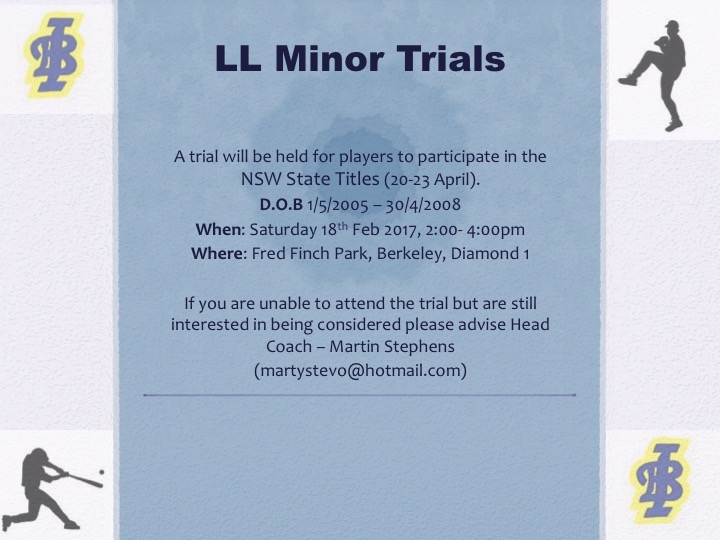 Illawarra LL-Minor Trial